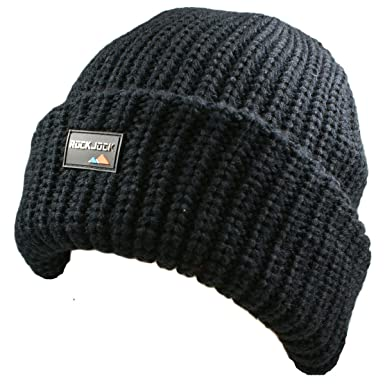 Mens Official Rock Jock Thinsulate Thermal Winter Knitted Hat - Extra Thick  - Very Warm - 1f3b29665587