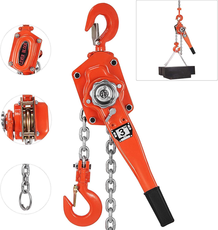 15-1.5 Ton Manual Chain Hoist Size