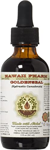 Goldenseal Alcohol-FREE Liquid Extract, Organic Goldenseal Hydrastis Canadensis Dried Leaf Glycerite 2 oz