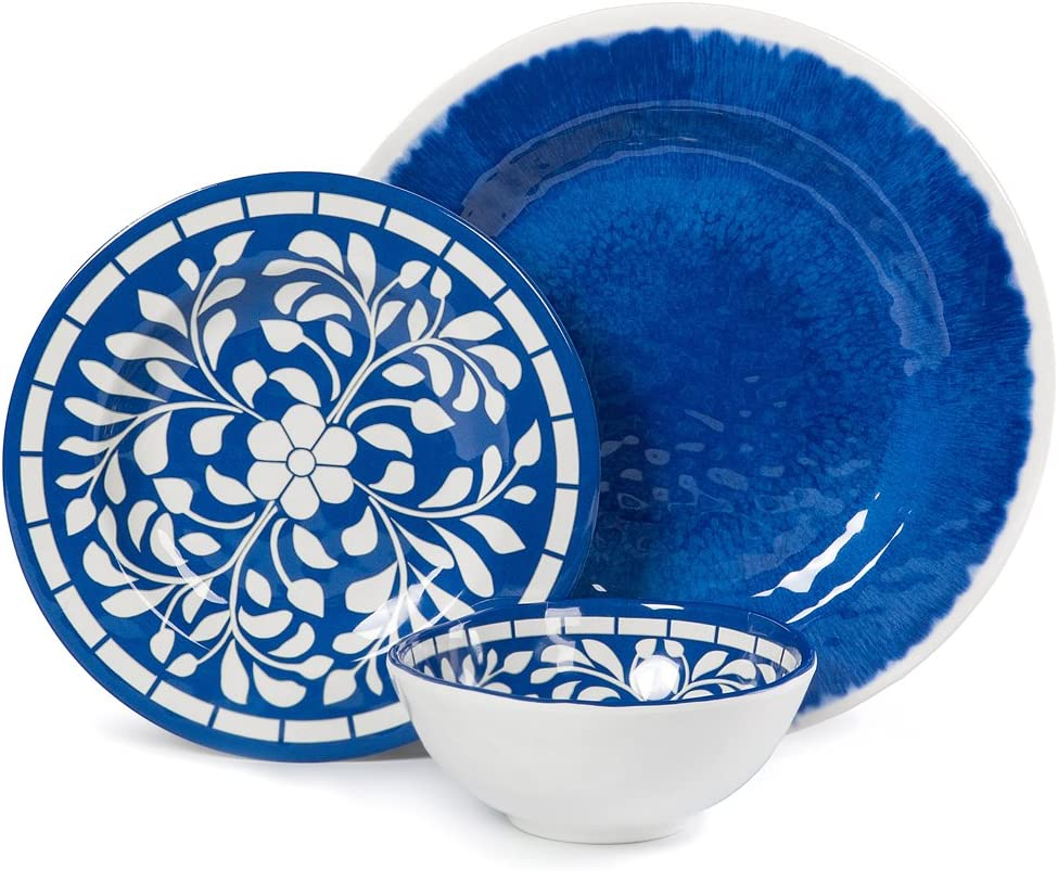 Amazon Com Melamine Dinnerware Set 12 Pcs Dinner Dishes Set