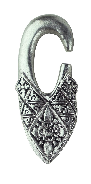 Pesos de oreja de pareja plateados plata para lóbulos estirados - Dos pendientes dilataciones orejas - Earrings Plugs
