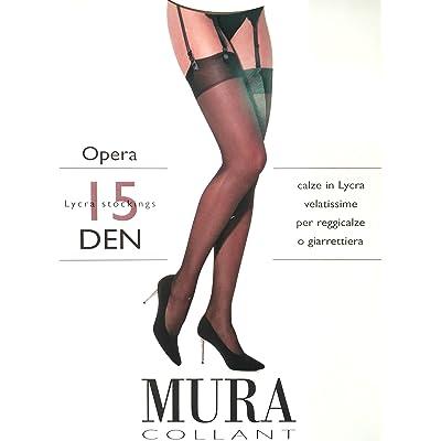 Mura - Bas pour porte-jarretelles - Femme Marron noyer 35 - S