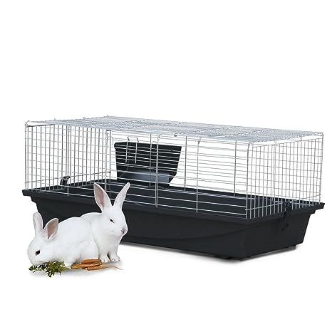 Jaula para conejos, animales pequeños, cerdos de guinea Pawhut ...