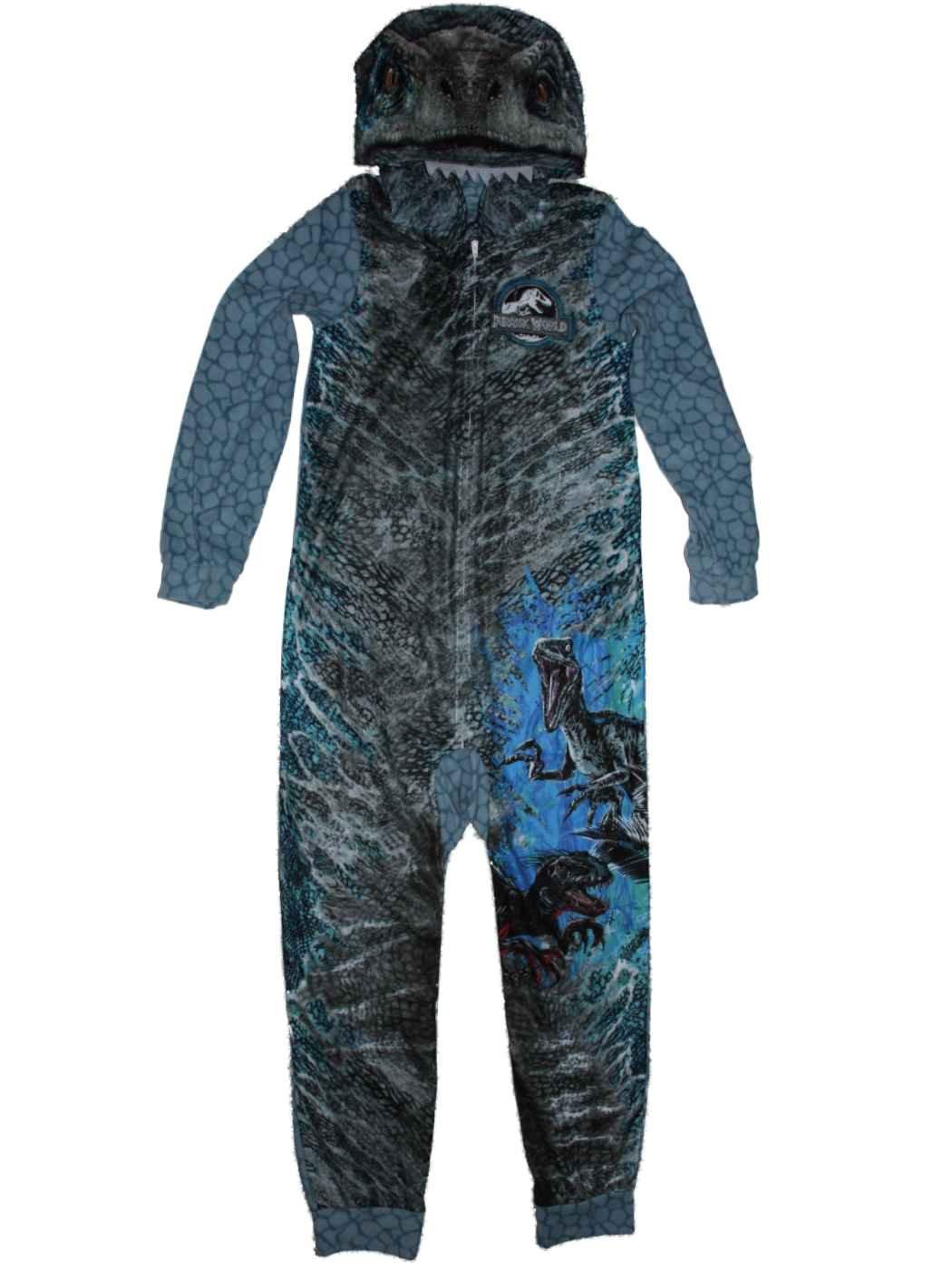 f49597a94f33 Ame jurassic world blue raptor fleece hooded union suit boys pajamas jpg  1050x1400 Home depot pajamas