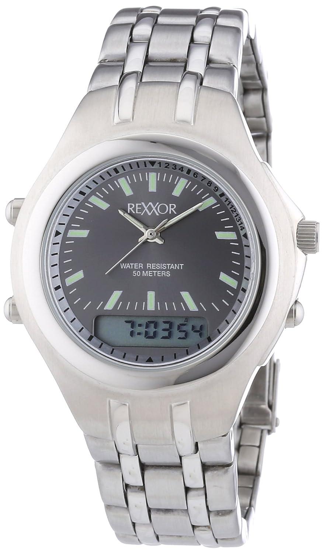 Rexxor 242-7904-88 - Reloj de cuarzo para hombres, color plata