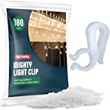 Christmas Light Clips - [Set of 100] Mini Light Clips For Christmas Lights - Light Clips For Gutters - Light Clips For…