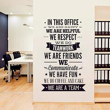 stickers muraux chambre adulte 3d Nous sommes une équipe Quotes ...