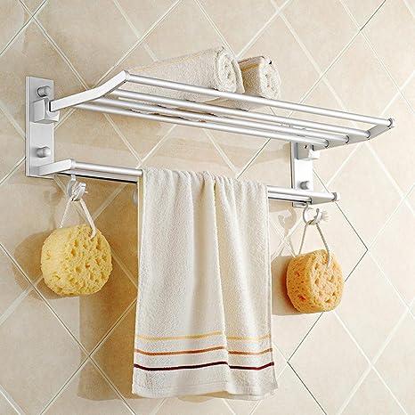 SBNYD-Elegante y minimalista, toallas de baño, de aluminio de doble plegado,