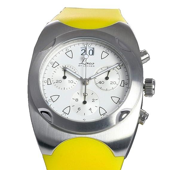 Laco by Lacher - renesse Yellow Cronógrafo - Fabricado en Alemania - Reloj de Hombre/Señor Reloj de Pulsera/Reloj de Pulsera para Hombre: Amazon.es: Relojes