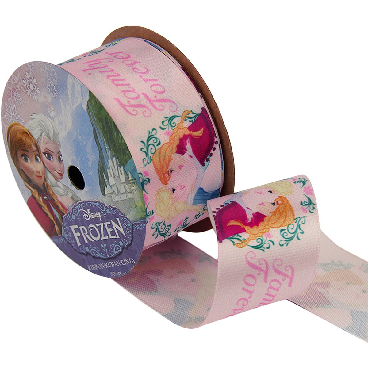 Pink Disney Princesses Castle Craft Ribbon Offray 7//8-Inch by 9-Feet