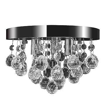 Vidaxl deckenleuchte kronleuchter pendelleuchte kristall lampe ...