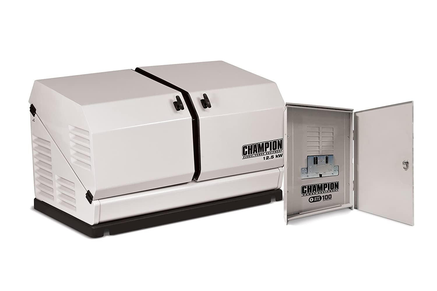 Champion 125 Kw Home Standby Generator 100 Amp Outdoor 3 Way Switch Wiring Diagram For Rated Automatic Transfer Garden