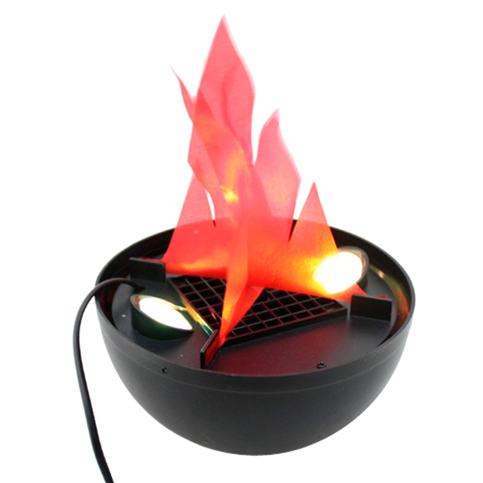 AVOLUTION Hanging Fake Flame Lamp Fire Pit Bowl Halloween Prop Decorations