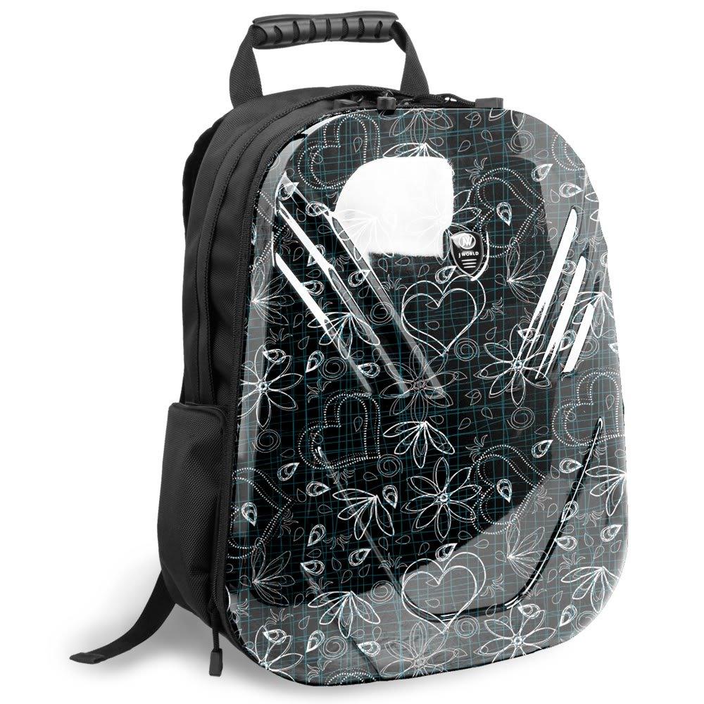 J World New York Tuttle Hardshell Laptop Backpack (Love Black)