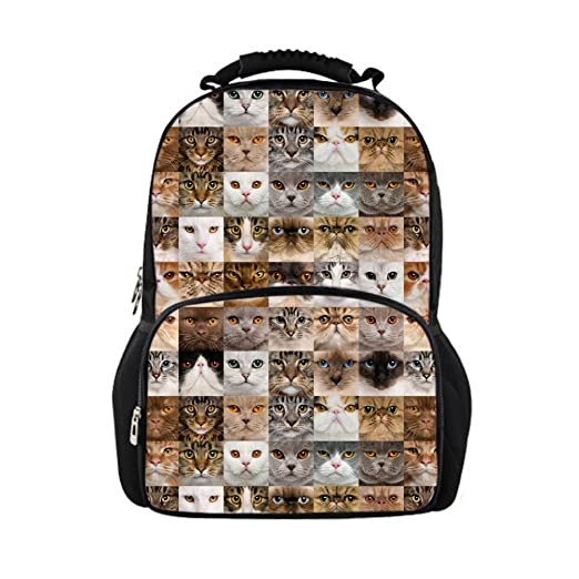 2bbbf53b9dc9 Amazon.com | Showudesigns Kawaii Printing Animal Cat Backpack for ...