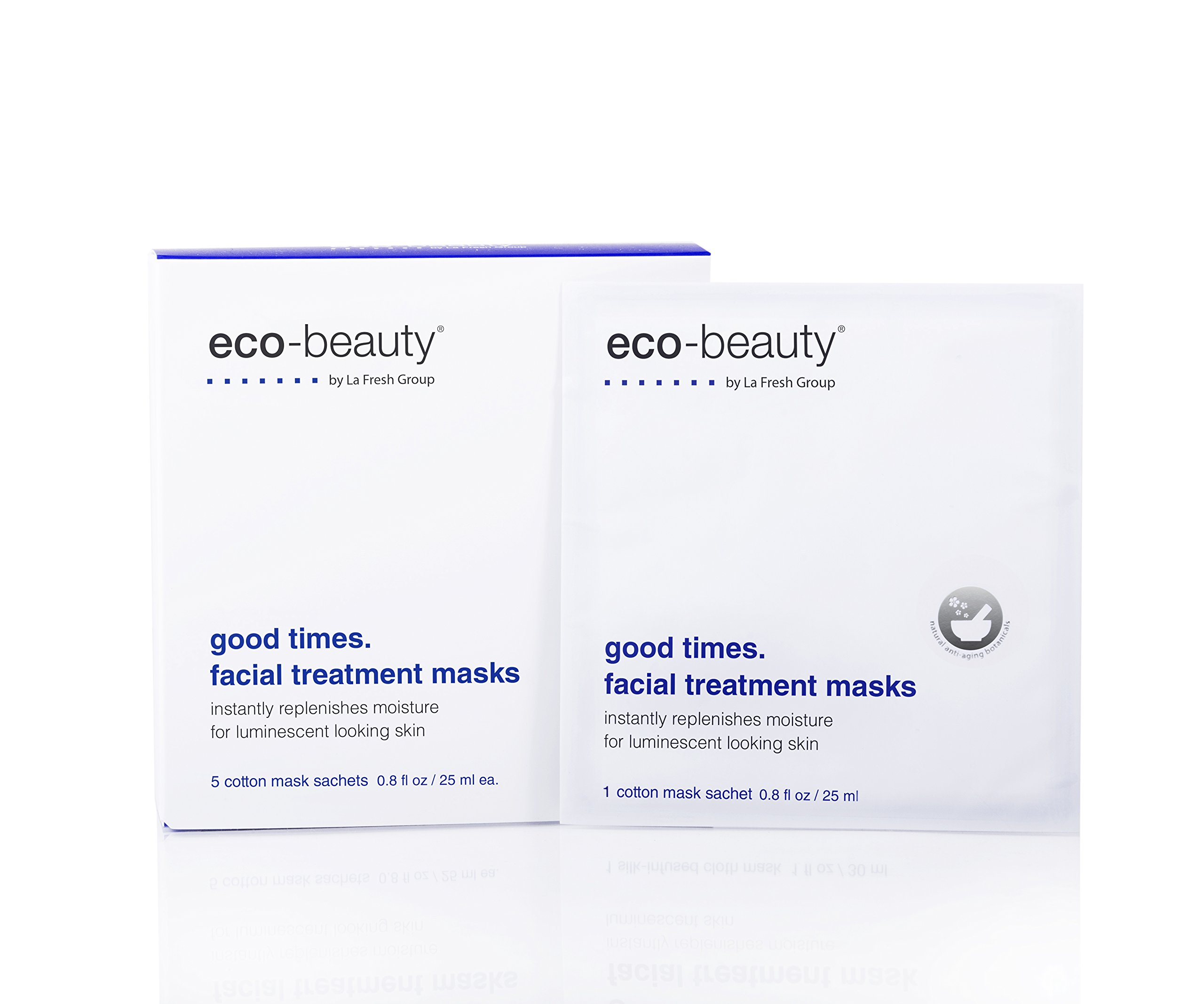 La Fresh Good Times. Facial Treatment Sheet Masks, Natural Face treatment to Hydrate, Freshen and Revitalize Skin- Pack of 5