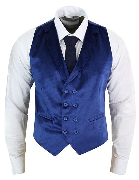 Gilet Da Uomo Doppio Petto Vellutato 1 Bottone Slim Fit Elegante da Party  Blu 44  Amazon.it  Abbigliamento 4b22e8d3cd7