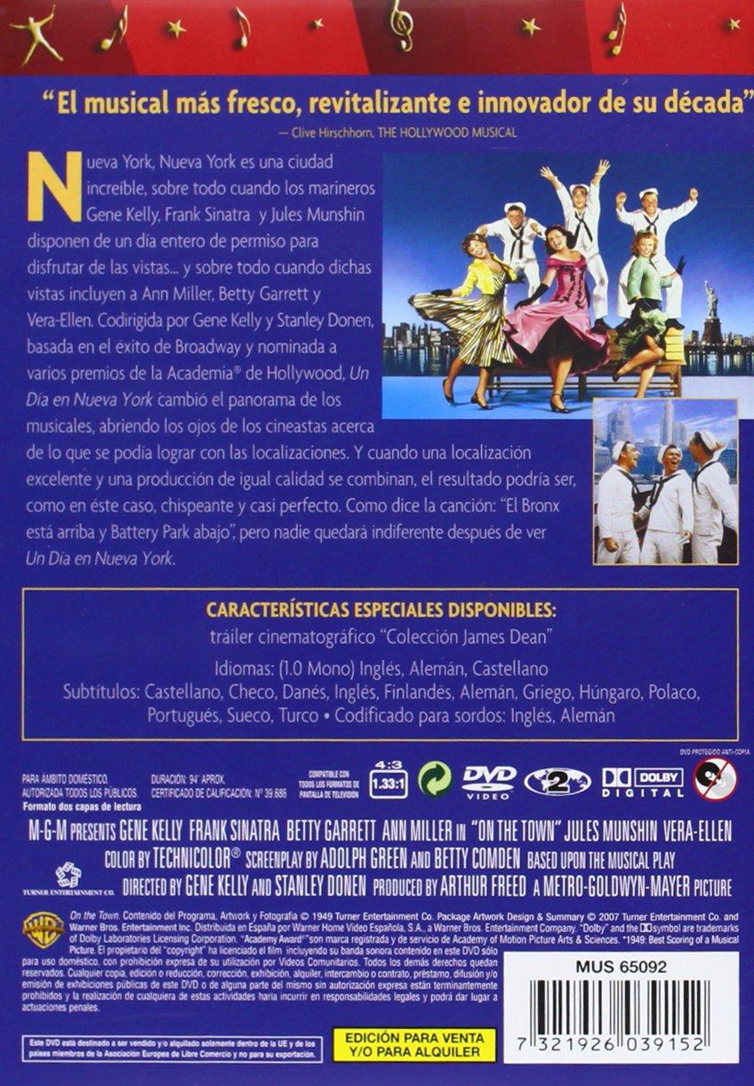 Un Dia En Nueva York [DVD]: Amazon.es: Gene Kelly, Frank Sinatra, Betty Garrett, Ann Miller, Jules Munshin, Vera-Ellen, Florence Bates, Alice Pearce, ...