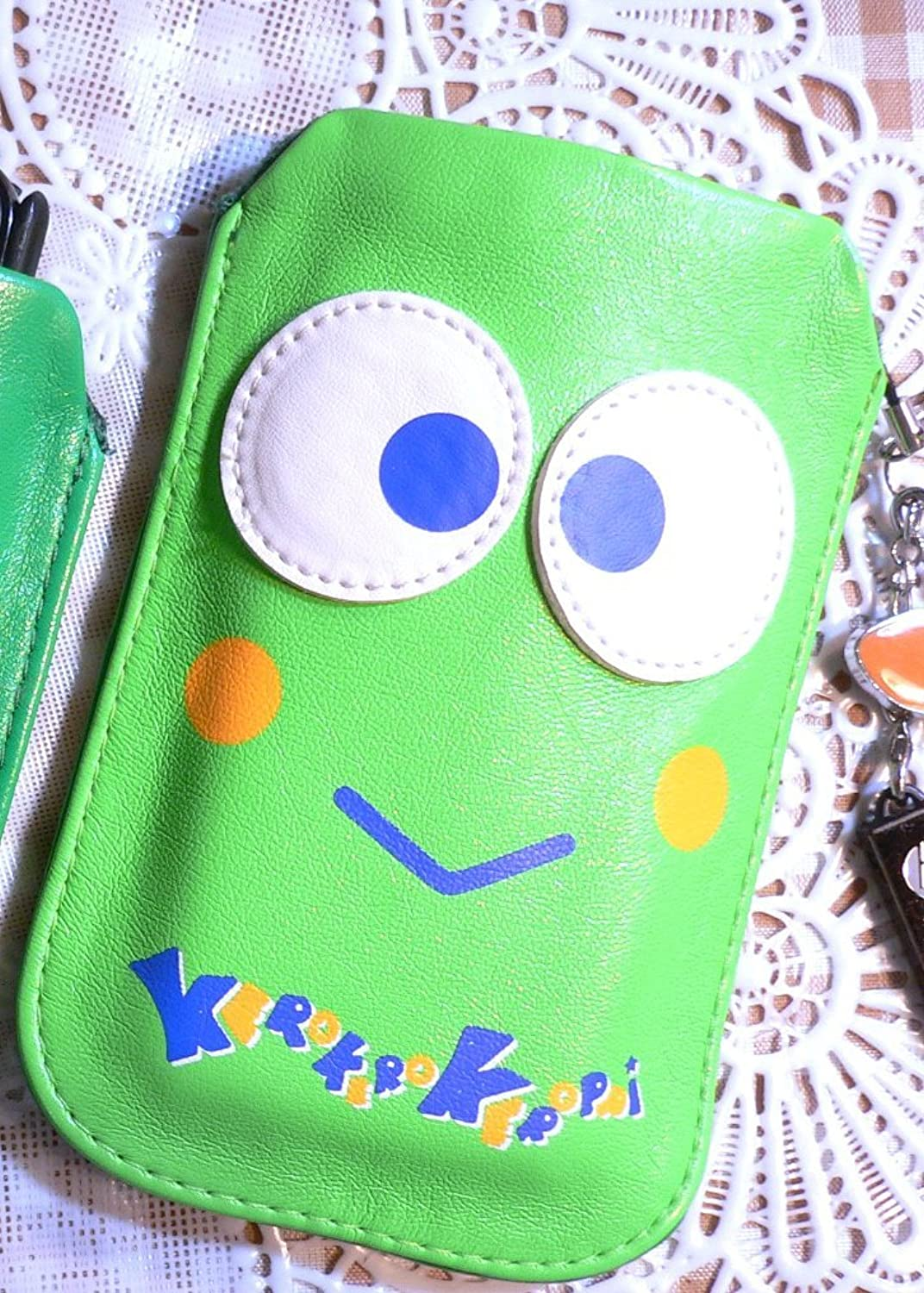 Keroppi PU Leather Pouch for Card Makeup Digital Camera Cell Phone Multi-purpose Bag