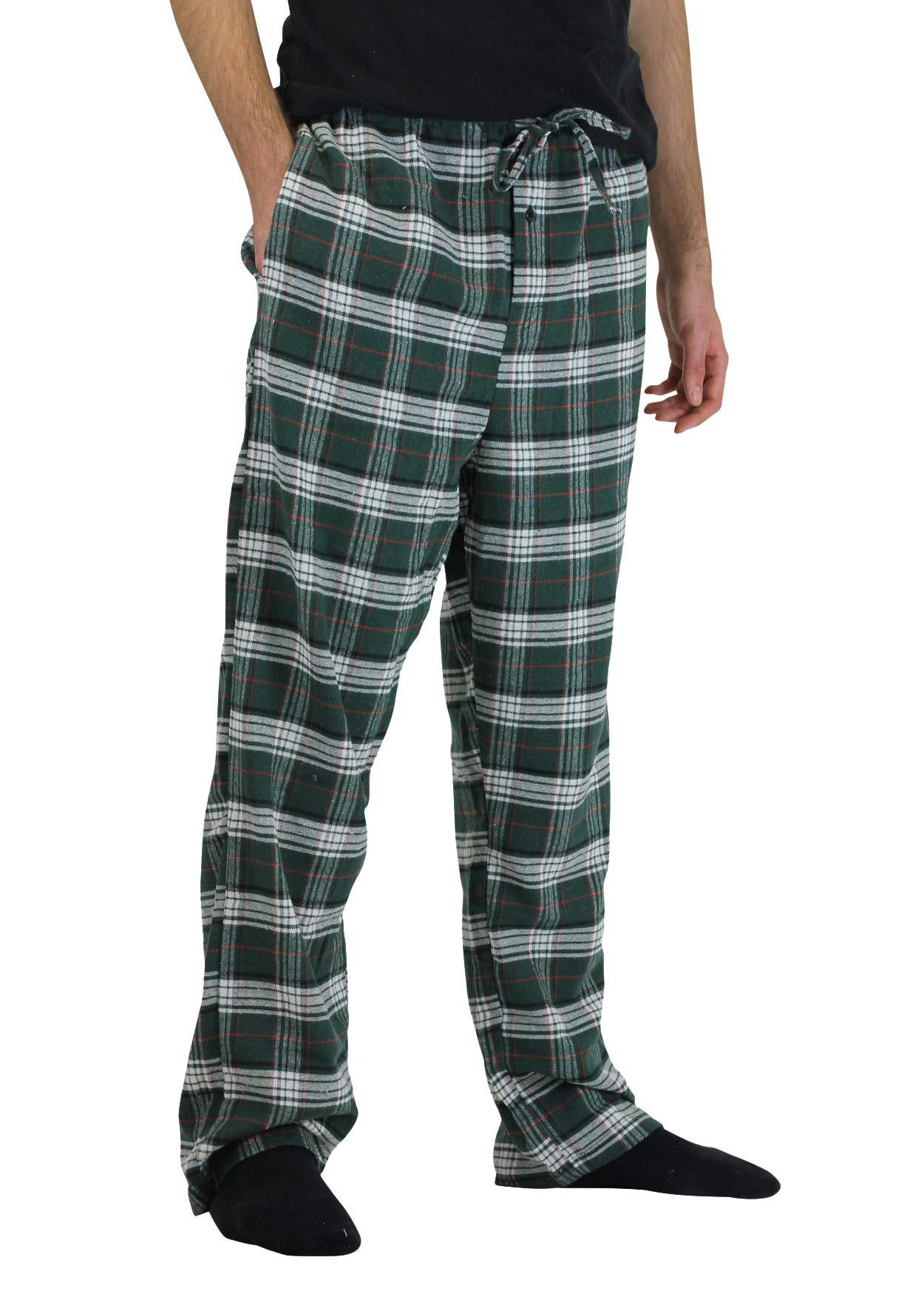 Real Essentials 3 Pack:Men's Cotton Super Soft Flannel Plaid Pajama Pants/Lounge Bottoms,Set 4-L by Real Essentials (Image #4)
