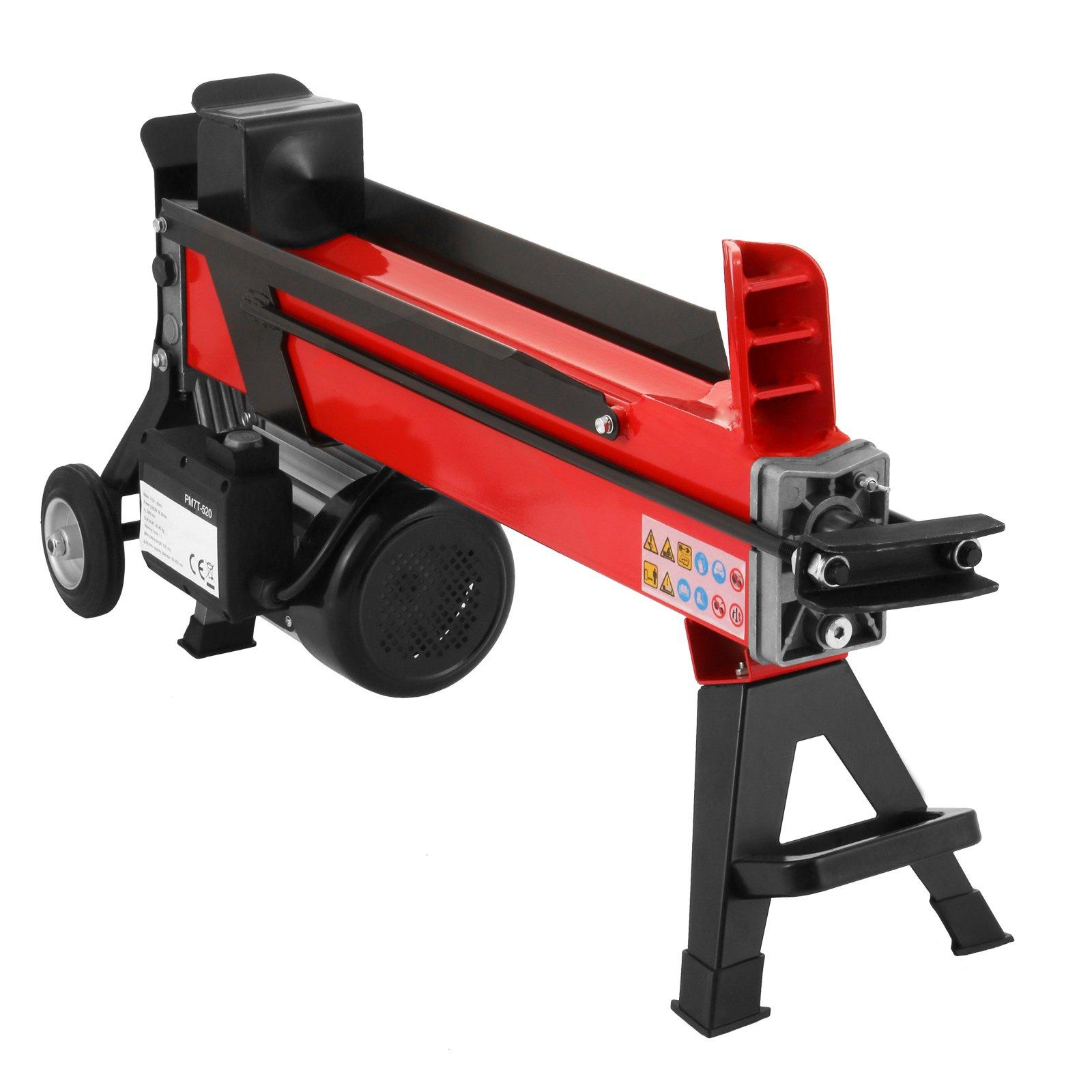 OrangeA Log Splitter 7 Ton 3400RPM Electric Log Splitter with 7'' Wheels Hydraulic Wood Splitter Can Split Wood Easily (7 Ton)