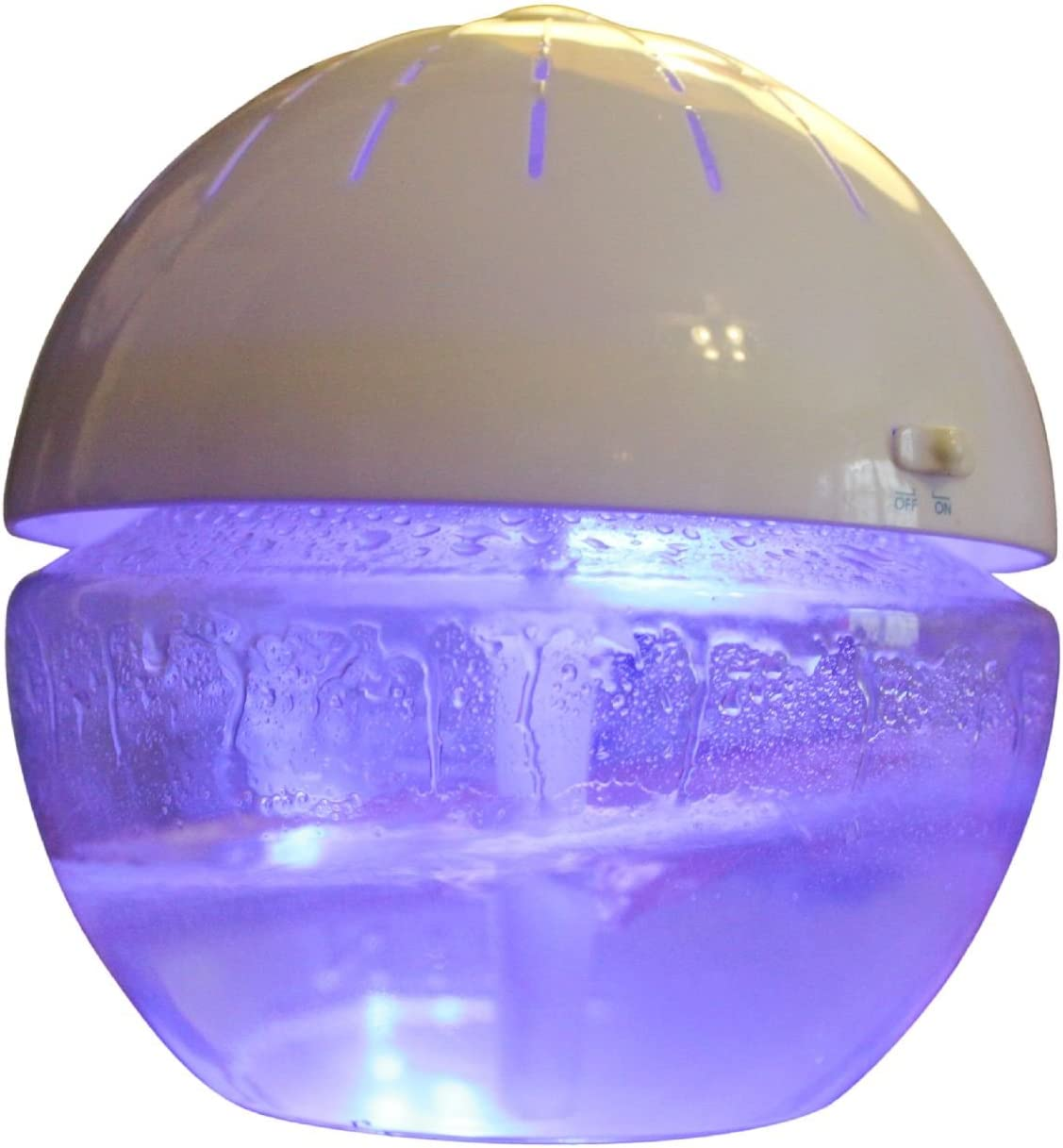 EcoGecko Earth Globe- Glowing Water Air Washer and Revitalizer with Lavender Oil, White