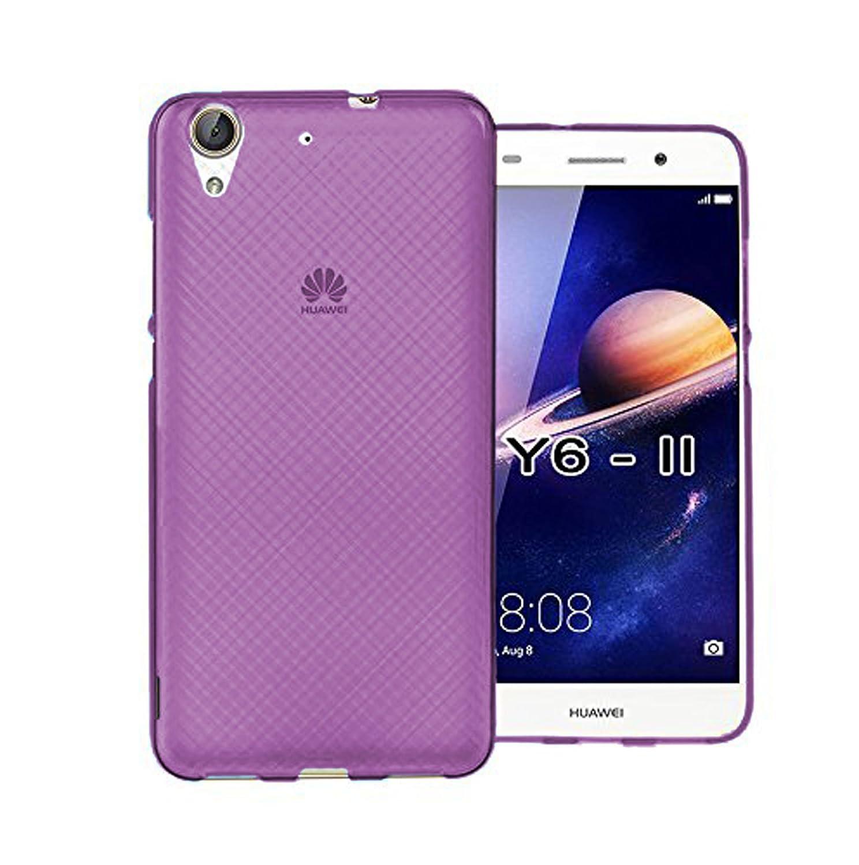 TBOC® Funda de Gel TPU Roja para Huawei Y6II - Y6 II - Y6 2 (5.5 Pulgadas) de Silicona Ultrafina y Flexible. [No es Compatible con el Huawei Y6II ...