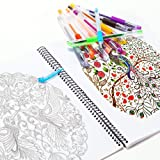 Gel Pens Set Colored Gel Art Markers Fine Point Pen with 40% More Ink for Adult Coloring Books Drawing Doodling Scrapbooking