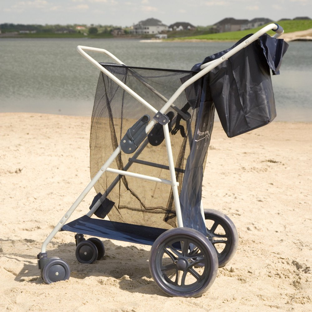 Most Popular Highest Rated Best Selling Beach Lake Wheeler Tote Deluxe Sturdy Cart Big Wheels by Rio (Image #2)