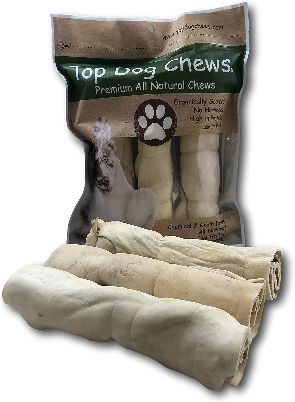 Top Dog Chews Beef Cheek Retriever Rolls 10