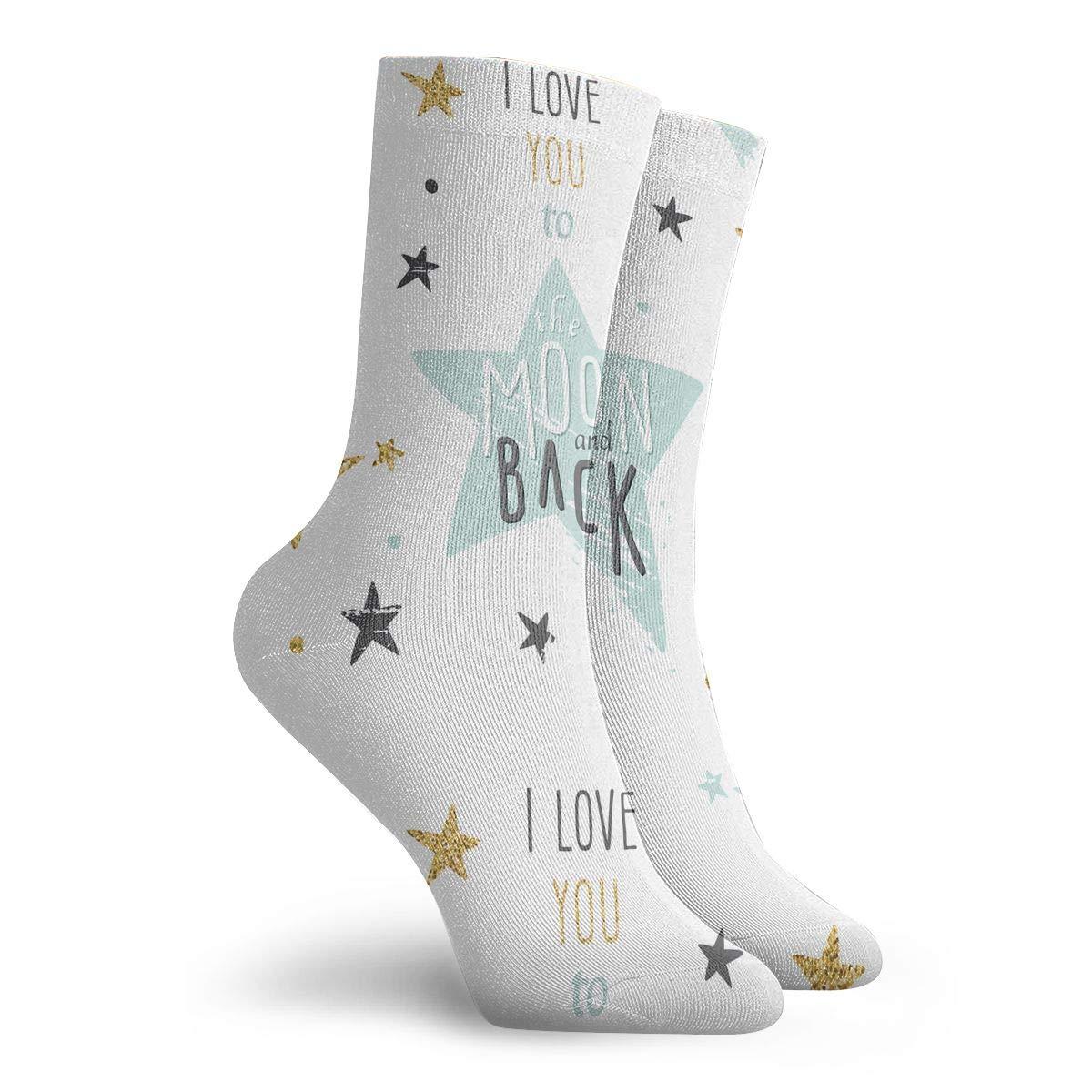 Inspiration And Motivation Romance And Love Fashion Dress Socks Short Socks Leisure Travel 11.8 Inch