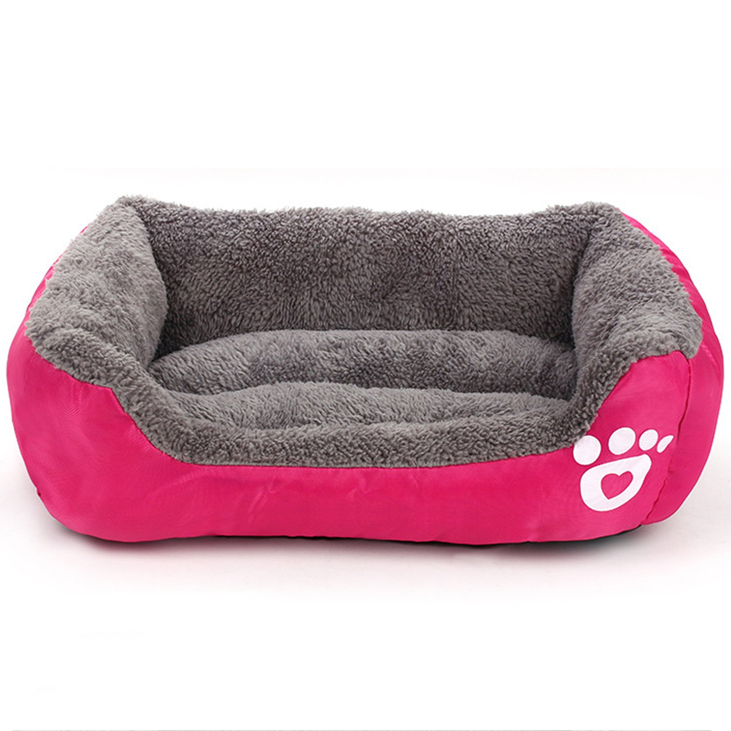 pink Red L pink Red L GIZEE Soft Pet Bed Dog Mattress Kennel Nest Warm Dogs Cat Cute Sleeping Bag House Cushion Mat (pink Red)