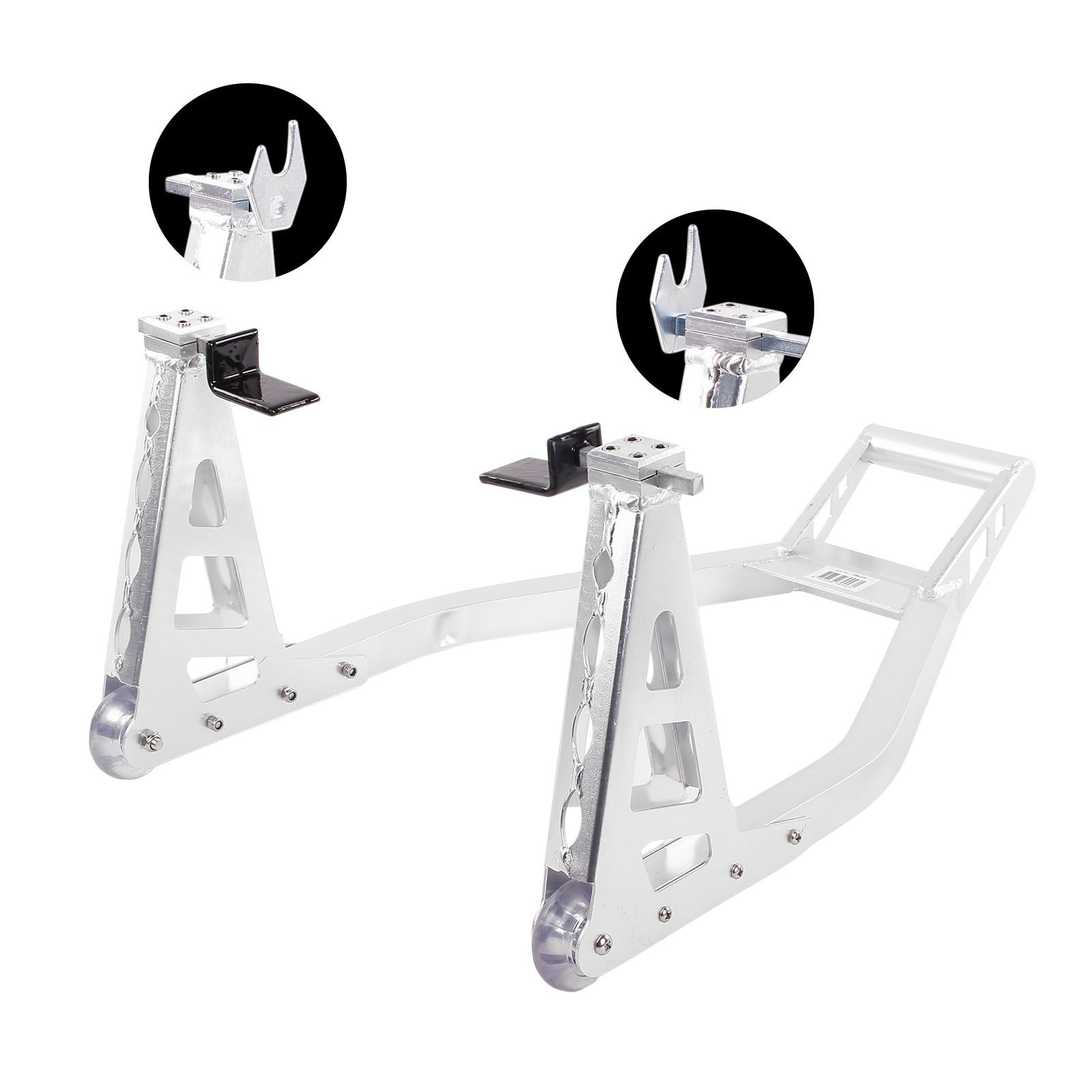 APT Motorcycle Rear Paddock Stand Aluminium Adjustable Extra Light With 2 Adapters & # X1 °F3CD ?