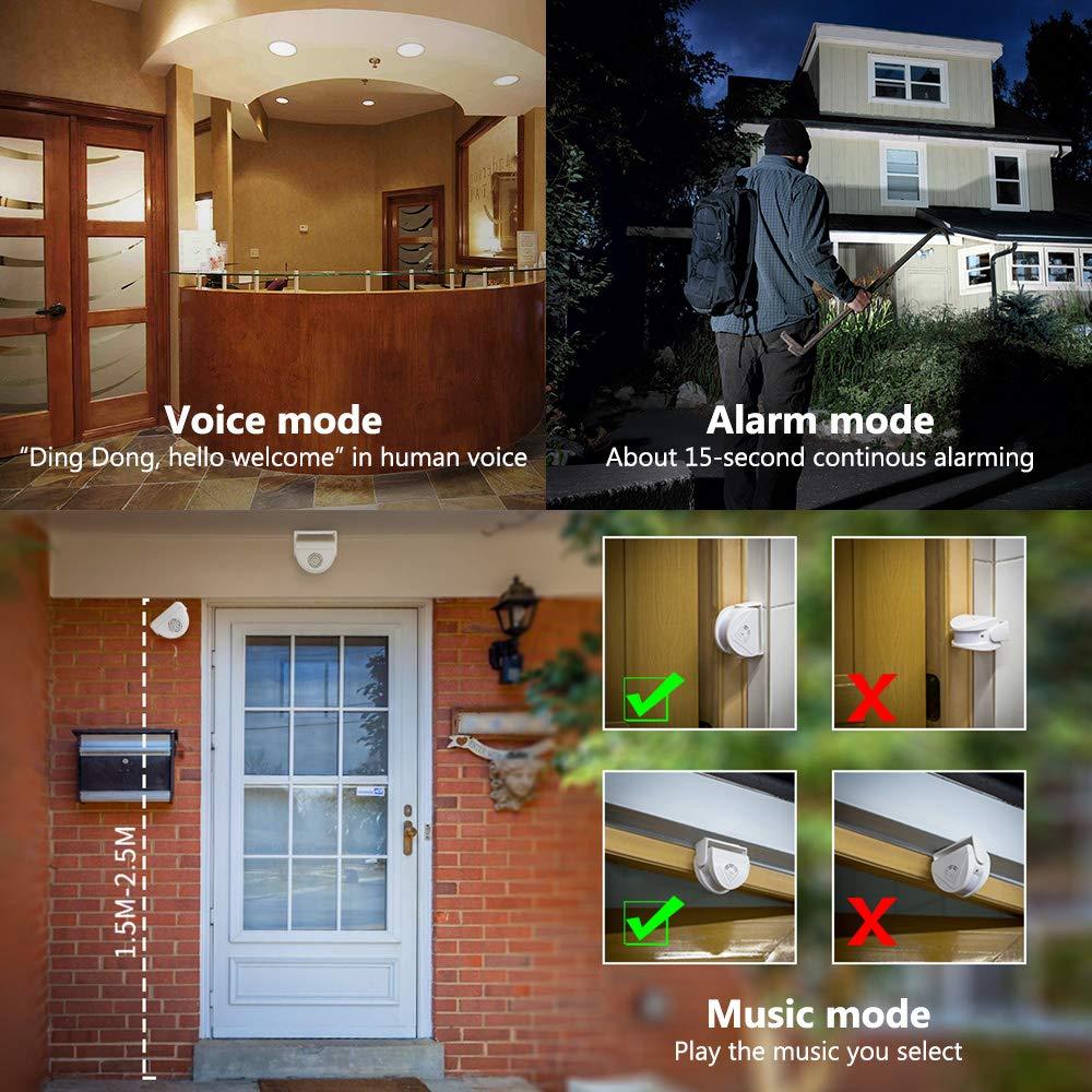 KERUI M5 Wireless Doorbell Infrared Door Chime Alarm System,Motion
