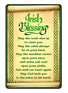 Ireland Epoxy Magnet With Irish Blessing With A Celtic boarder Design