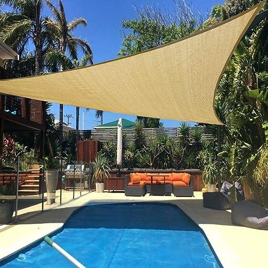 Yardwe Triangle Sun Shade Sail Canopy Bloque UV A Prueba De Agua para Patio Y Exterior 3.6M (Amarillo Arena): Amazon.es: Jardín