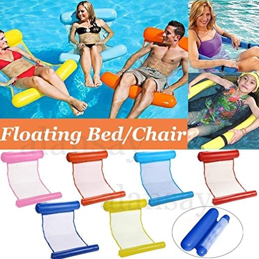 Portable Swimming Pool Toy Hammock Lounge Inflatable Water Floating Bed Chair
