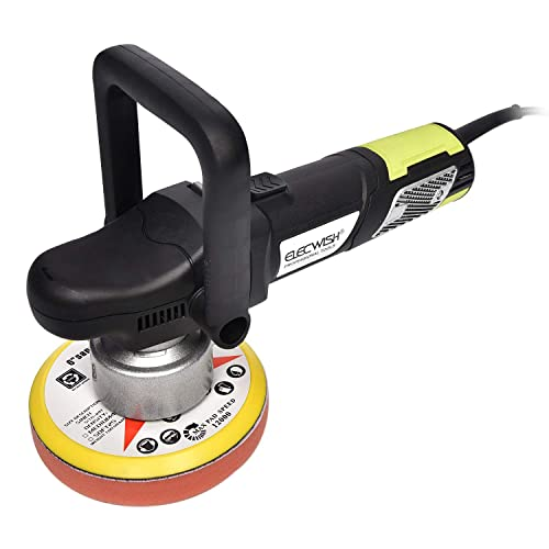 FULLWATT Car Buffer Polisher, Electric 6-Inch Polisher Variable Speed Polisher Random Orbital Buffer 900W Electrical Dual-Action Polisher Grinder Buffer 6 inch