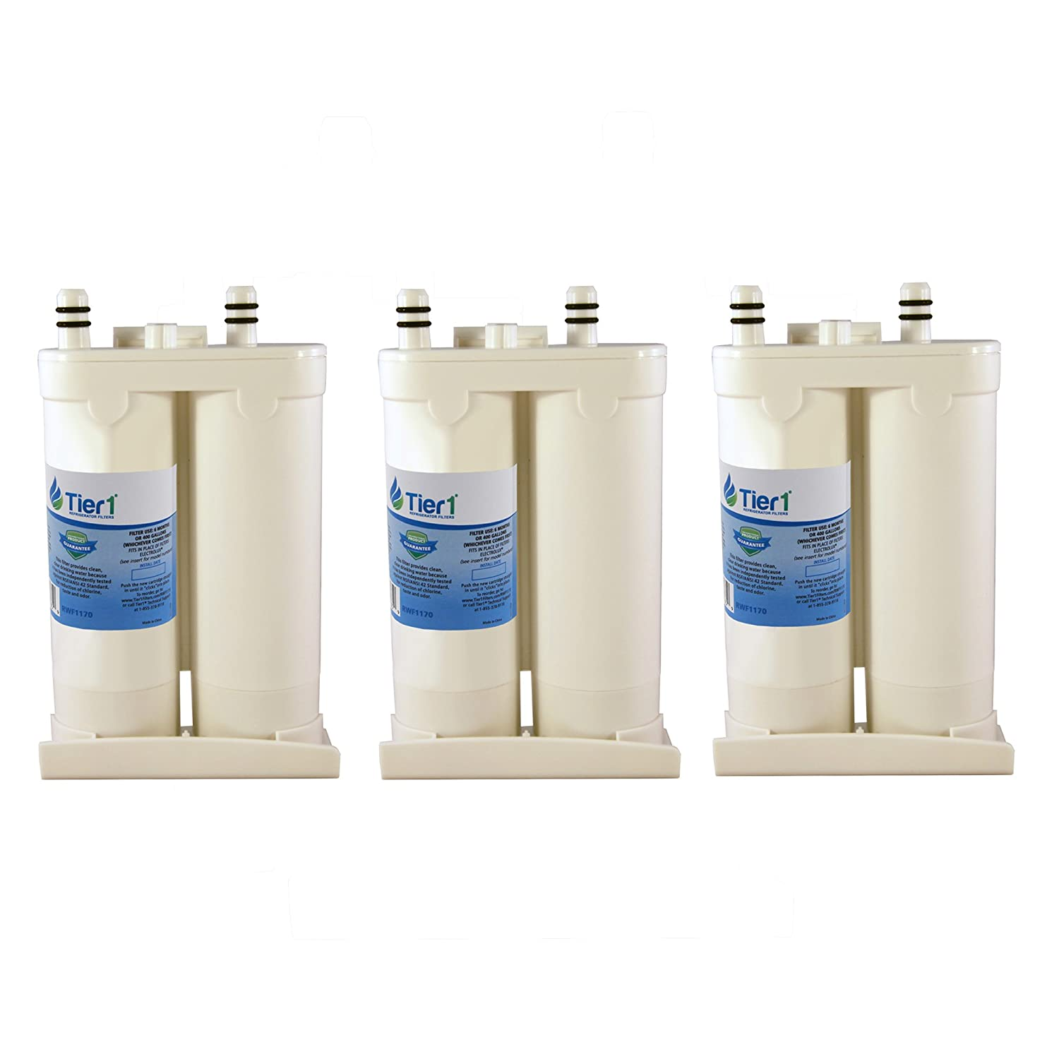 3 Pack Tier1 EWF01 Electrolux PureAdvantage, NGFC 2000, EWF2CBPA, FC-300 Replacement Refrigerator Water Filter