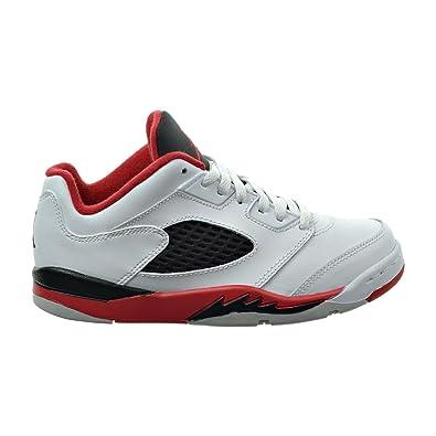 wholesale dealer eb91a 9f8c5 Jordan 5 Retro Low (PS) Little Kid s Shoes White Fire Red Black