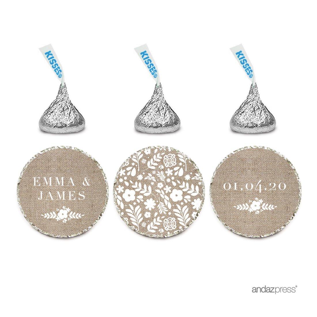 Amazon.com: Andaz Press Personalized Wedding Chocolate Drop Label ...