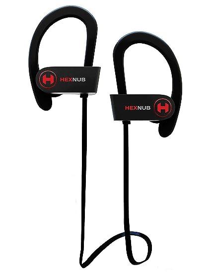 Auriculares inalámbricos Bluetooth HEXNUB X1S con resistencia al sudor IPX5, perfectos para hacer deporte,