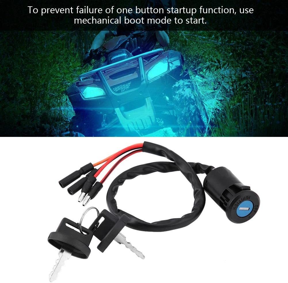 Car Ignition Key Switch,Ignition Key Switch Fits for Auto 300 TRX300FW FOURTRAX 1900-2000 ATV