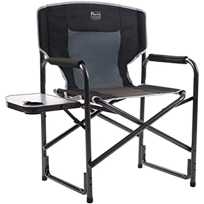 Timber Ridge Director's Chair Folding Aluminum Camping Portable Lightweight Chair Supports 300lbs