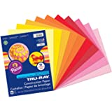 """Tru-Ray PAC102947BN Construction Paper, Warm Assorted, 9"""" x 12"""", 50 Sheets Per Pack, 6 Packs"""