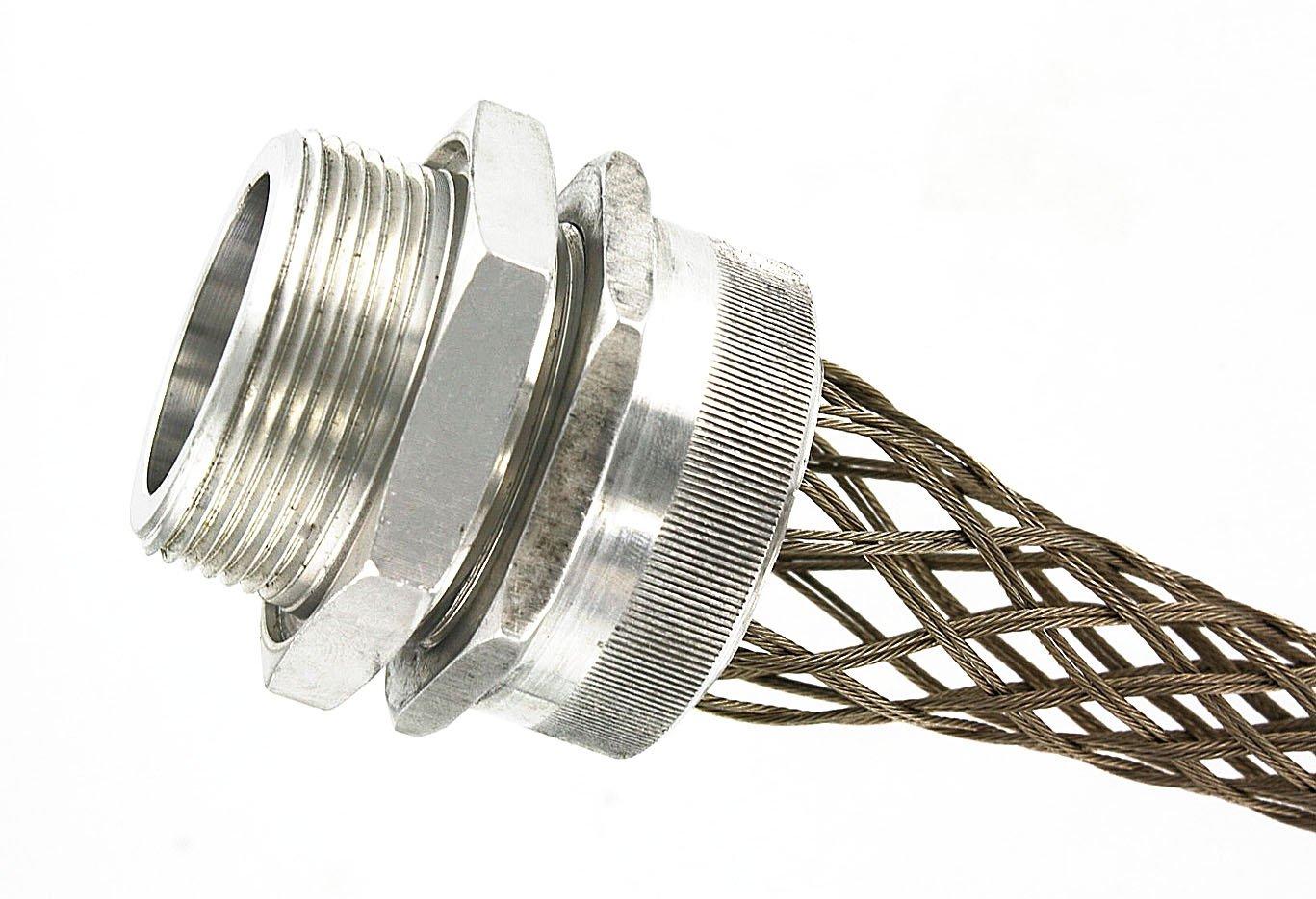 Leviton L7733 1-1/2-Inch, Straight, Male, Aluminum Body, Deluxe Cord Sealing Strain-Relief, 1.250, 1.375 Cord Range by Leviton