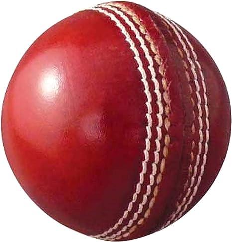 AnNafi - Pelota de Cricket de Piel, Color Rojo, Grado A   Cosido a ...