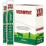 Vermont Smoke & Cure Jerky Sticks - Antibiotic Free Beef & Pork Sticks - Gluten Free - Great Keto Snack -High in Protein & Low Sugar - Original Flavor -1oz Jerky Stick - 24 Count