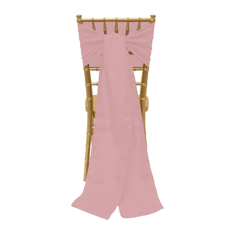 究極Textile 8 x 100-inchポリエステル椅子Tieサッシ 1 Pack ピンク POLY-8X100-128 1 Pack モーブ B0752RHYSD
