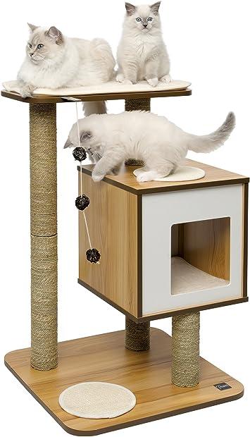 Amazon.com: Mueble Vesper para gato, V-Base, Walnut: Mascotas
